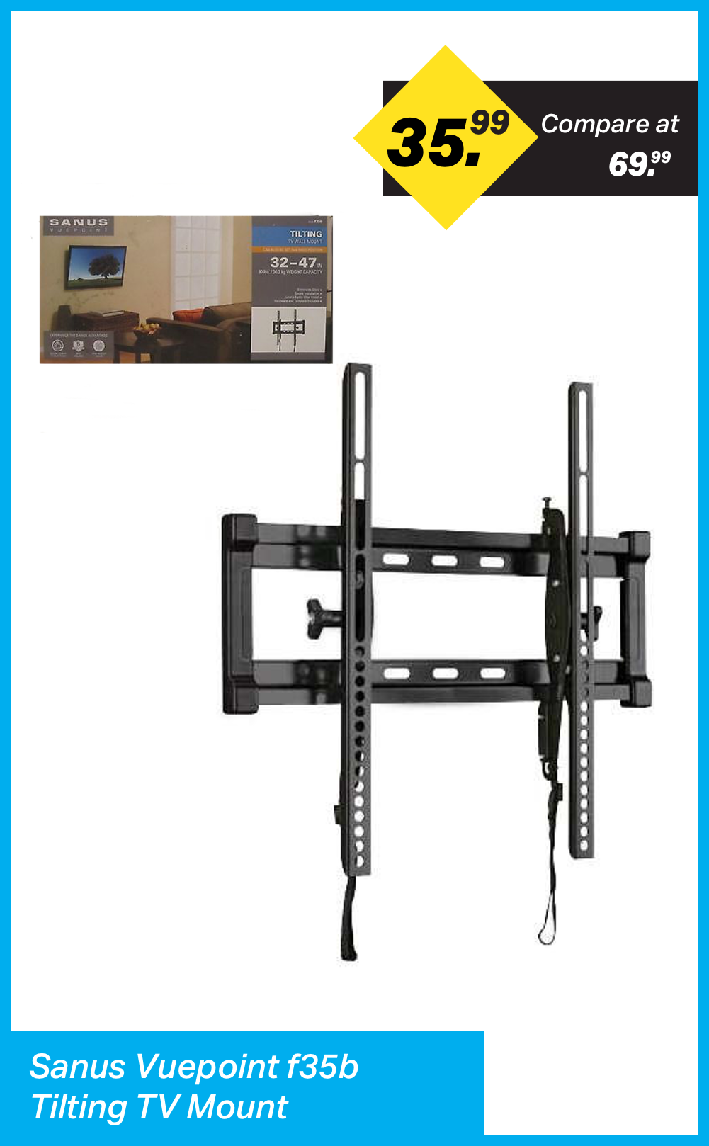 Sanus VuePoint f35b Tilting TV Mount